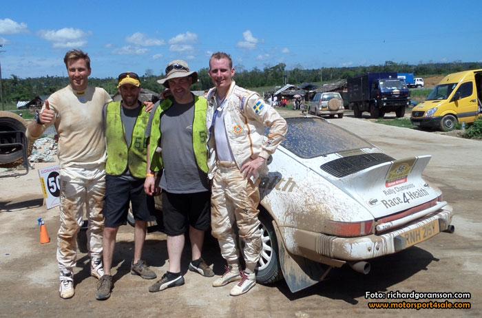 Händelserikt Safari Rally för Richard Göransson