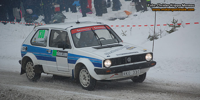 Janne Pettersson i Svenska Rallyt 2014