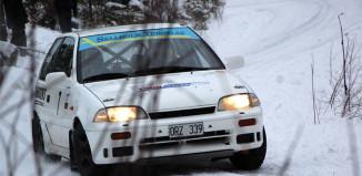 Jan-Erik Eriksson tog hem premiären i 1300 Rallycups Vintercup