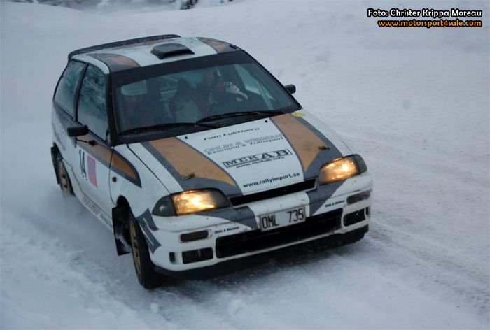 Riktiga vintervägar när 1300 Rallycup gästade Lima