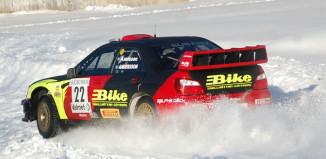 Jerker Axelsson efter premiärsegern i Rally-SM