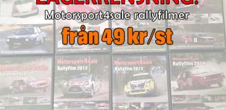 Lagerrensning - Motorsport4sale Rallyfilmer från 49 kr