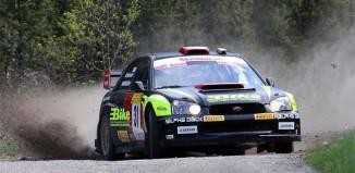 Jerker Axelsson utökade ledningen i Rally-SM