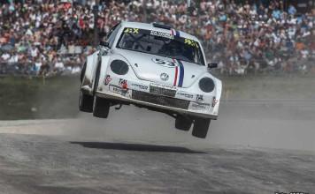 Per Eklund till Westombanan med sin VW Beetle
