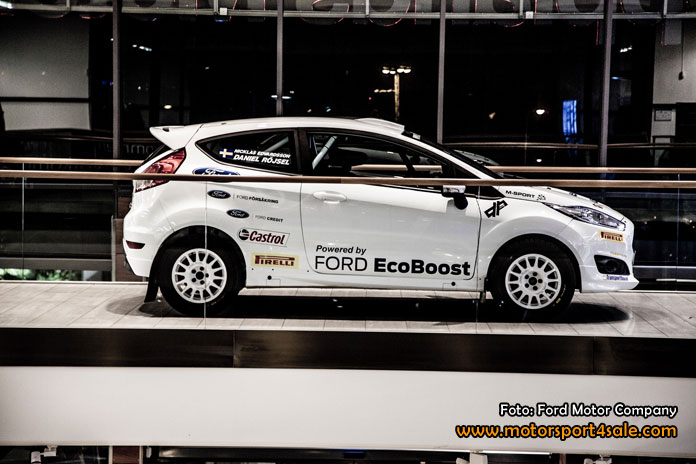 Daniel Röjsel kör Rally-SM i Fiesta R2 1,0 Ecoboost.