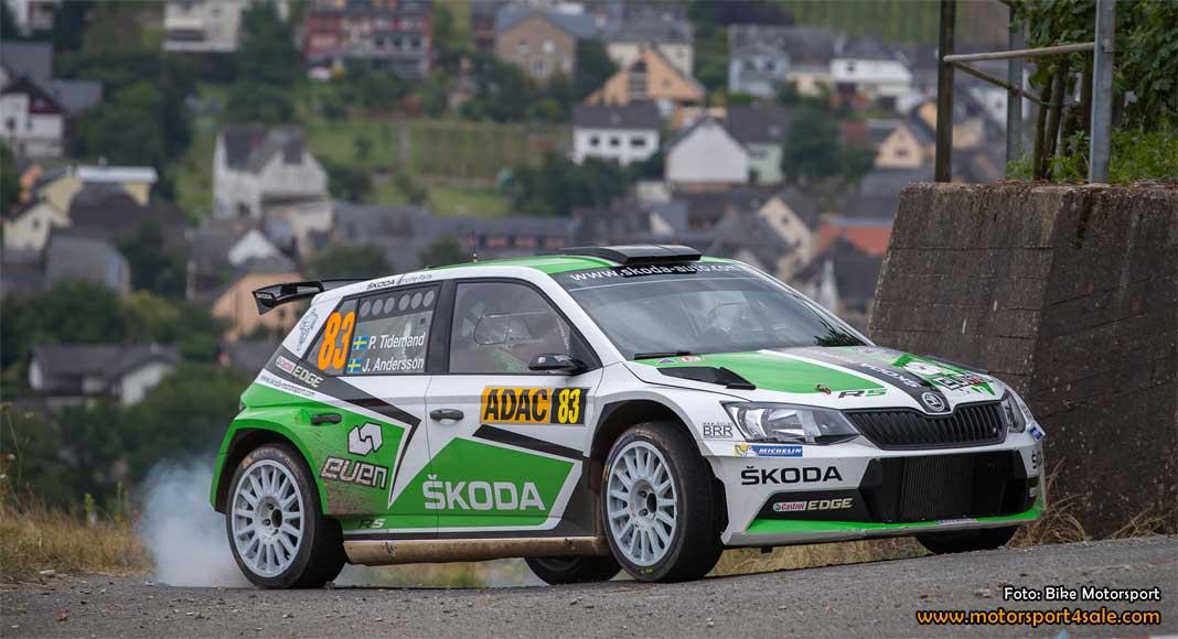 Pontus pressade WRC-bilarna i Tyskland med en åttonde plats