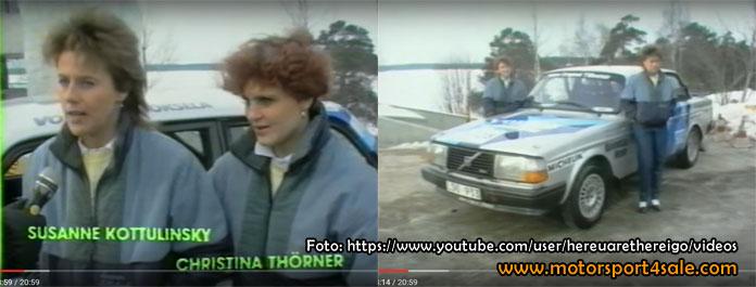 Susanne och Tina inför Hankiralli 1986