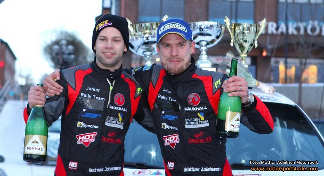 Mattias och Andreas vann Östersund Winter Rally