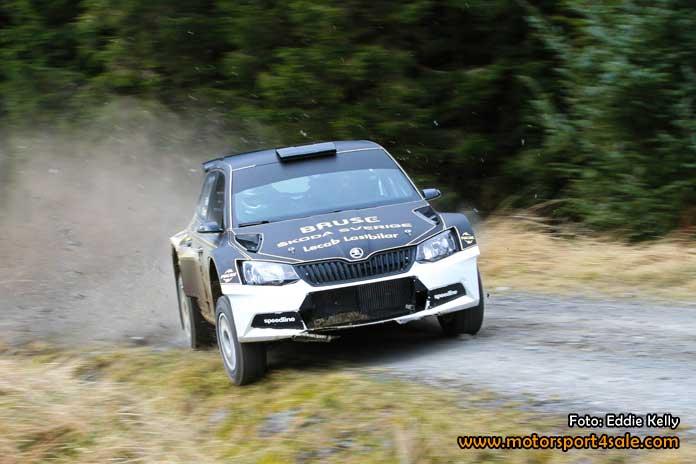 Fredrik Åhlin startar årets säsong i det Brittiska Rally Mästerskapet