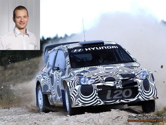 Juho Hänninen tar andraplatsen i Hyundai Motorsport