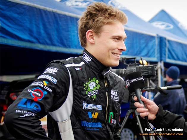Pontus Tidemand redo för helgens Rally Finnskog
