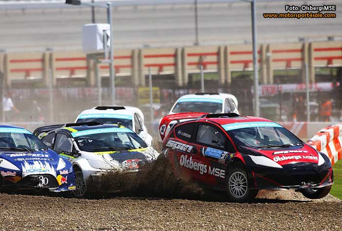 Richard Göransson i RallyX Supercar Lites med Team Tidö och OlsbergsMSE