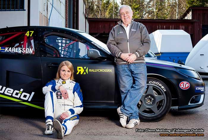 Ramona Karlsson kör SAAB i Rallycross-VM