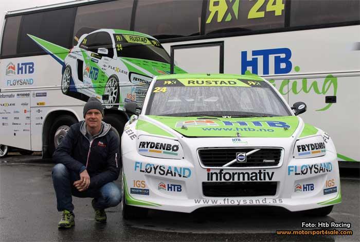 Tommy Rustad kör RallyX-premiären på Ring Knutstorp
