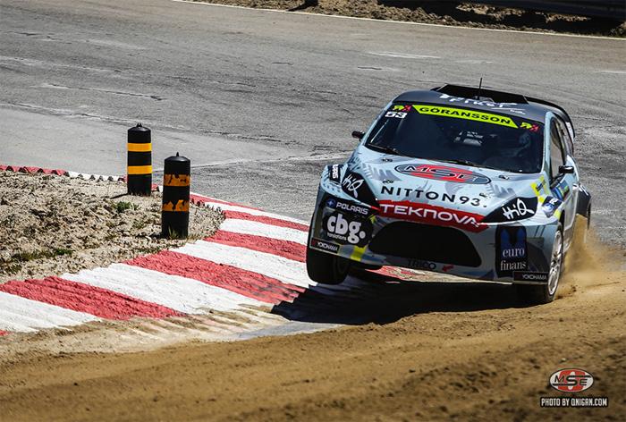 Richard Göransson på pallplats i Rallycross-debuten