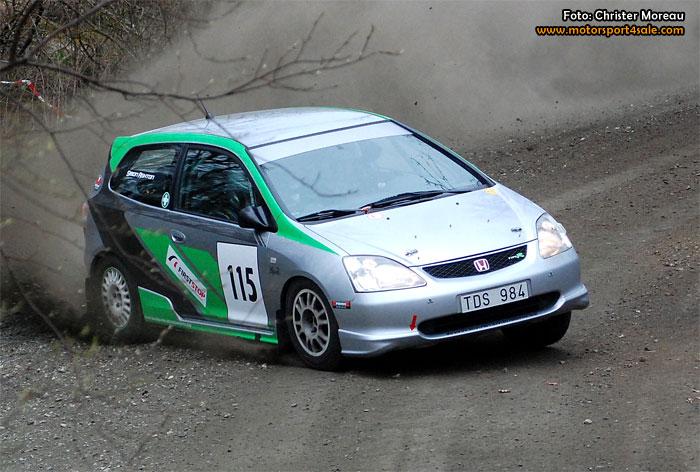Emrik drar ifrån i Sydsvenska Rallycupen