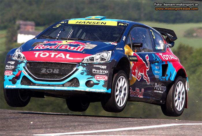 Team Peugeot-Hansen siktar på pallen i Finland