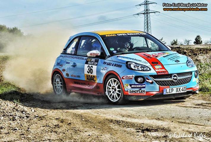 Vrålsnabb Emil Bergkvist jagar titeln i ADAC Rallye Opel Cup