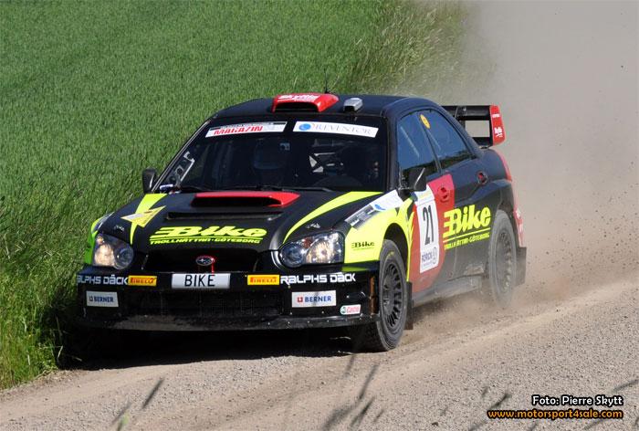 Jerker och WRC-bilen redo för guldjakt i Uppsala