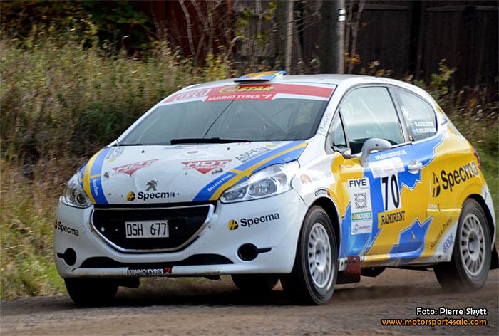 Mattias Adielsson kör helgens Danboring Rally Denmark