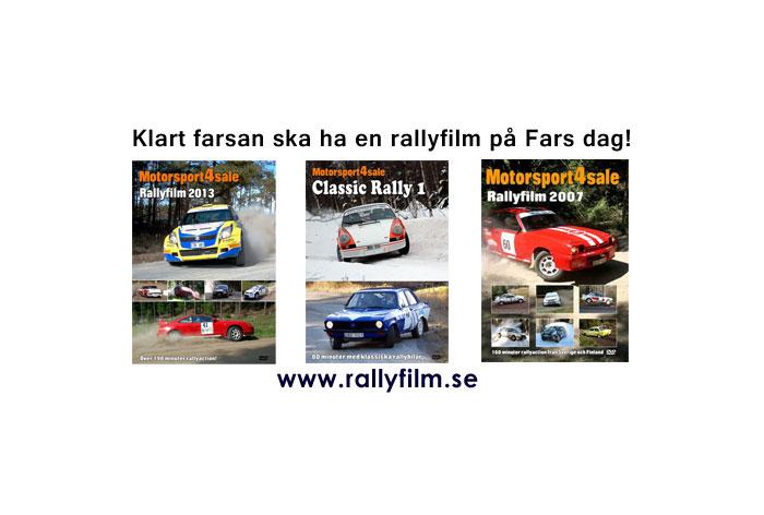 Klart farsan ska ha en rallyfilm på Fars dag