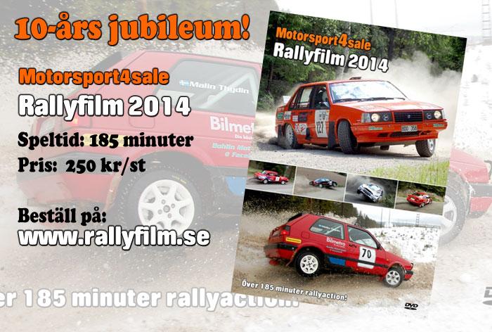 Rallyfilm 2014 klar för beställning
