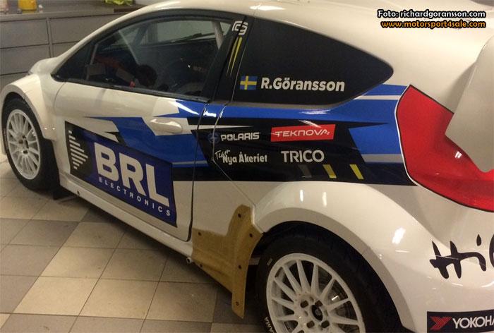 Richard Göransson redo för premiären av RallyX on Ice