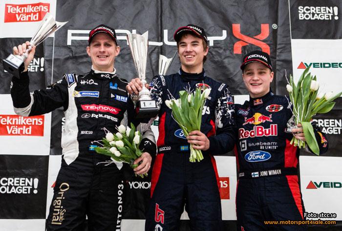 Eriksson segrade och Svärd imponerade i RallyX On Ice-premiären