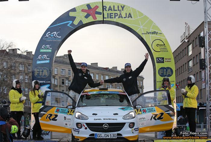 Emil och Johan segrade i Rally Liepaja