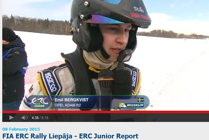 TV - FIA Rally Liepaja ERC Junior Report