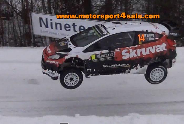 Flygande filmklipp från Rally Sweden ss5 2015