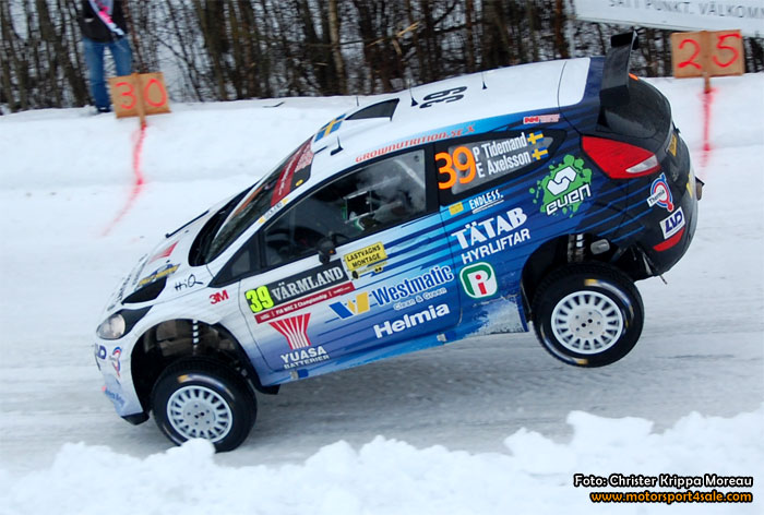 Pontus Tidemand efter femteplatsen i WRC2 i Rally Sweden