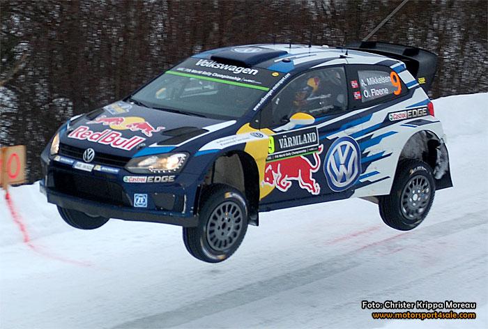 Tredjeplats i Rally Sweden för Andreas Mikkelsen