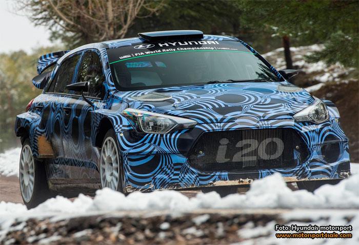 Hyundai utvecklar i20 WRC inför 2016