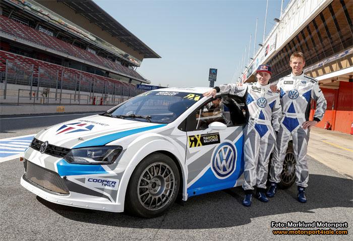 Svenska Volkswagenteamen mötte världspressen i Barcelona