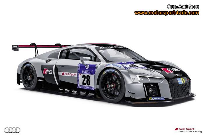 Edward Sandström i helt nya Audi R8 LMS i Nürburgring 24H