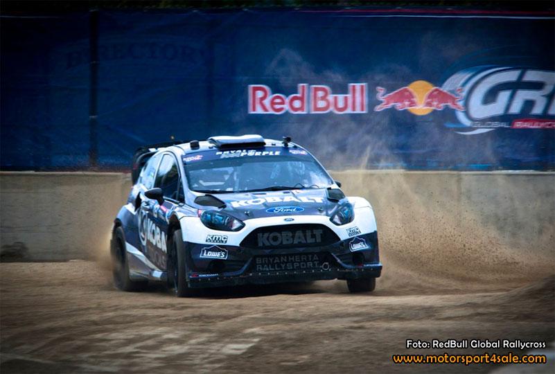 Patrik Sandell tog första segern i Global RallyCross