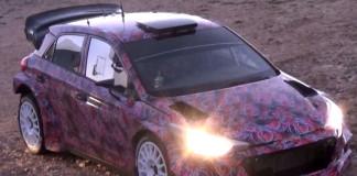 Se och hör Neuville testa nya Hyundai I20 WRC