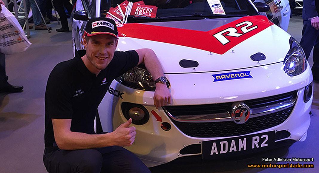 Mattias Adielsson fabriksförare för Vauxhall Motorsport 2016