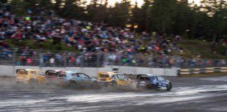 Tobias Svärd utmanar i RallyX Lites på Solvalla