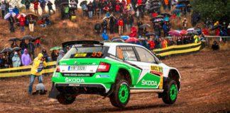 Pontus Tidemand leder WRC2 i Spanien