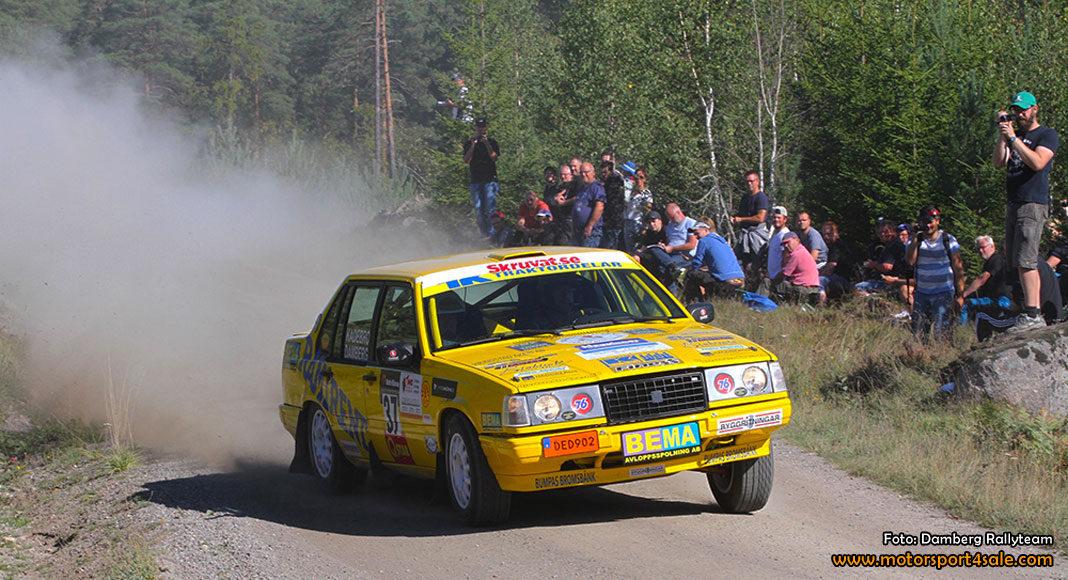 Damberg siktar mot toppen i Svenska Rallycupen