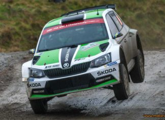 Pontus Tidemand efter fredagsetappen i Wales Rally GB