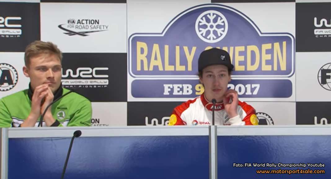 Pontus och Emil på presskonferens inför Rally Sweden