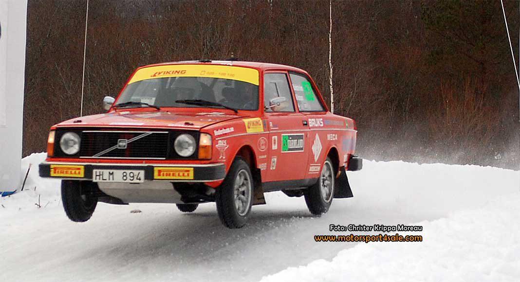 Arne Rådström kör för segern i Rally Sweden Historic 2017