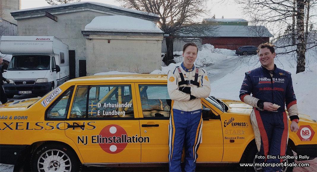 Elias och David rattade Volvon till andraplats i Rally Vännäs
