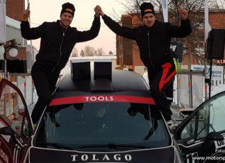 Pontus Åhman och Filip Wernefur tog klassegern i Rally Vännäs