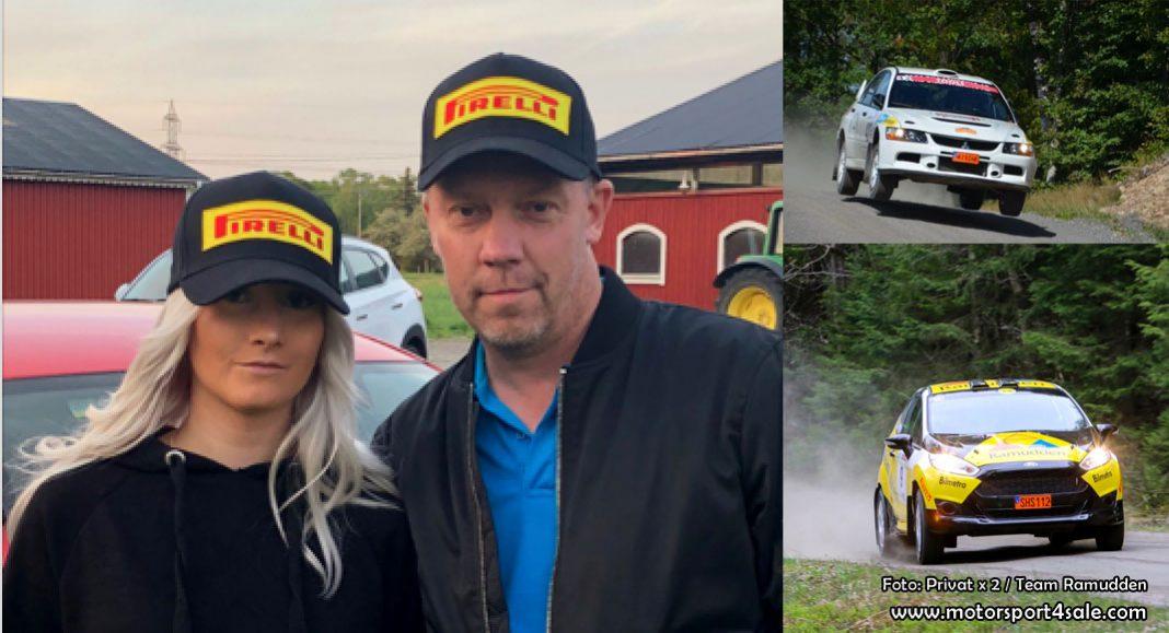 Far och dotter åker kartläsare i South Swedish Rally