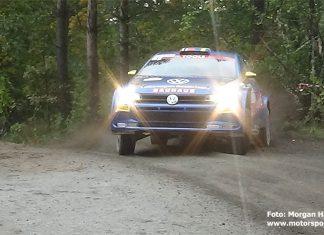 Johan Kristofferssons debutsäsong i rallyskogen slutade med SM-silver