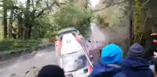 Latvalas krasch i Wales Rally GB